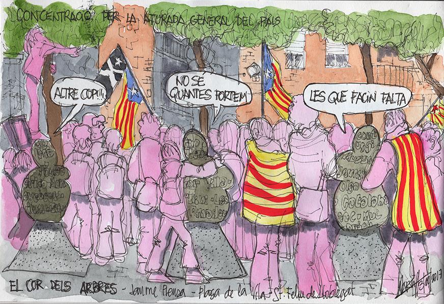 Concentració de dimarts a la Plaça de la Vila