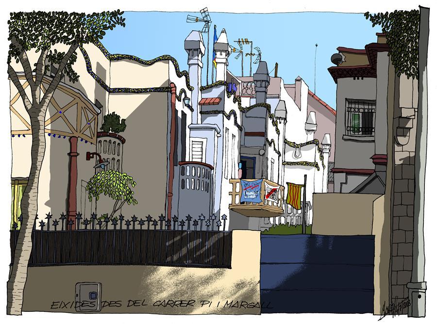 Eixides vistes des del carrer Pi i Margall